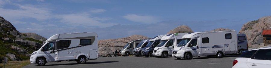 Caravan Parkplatz Lindesnes Norwegen