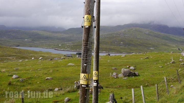 Warnschild äußere Hebriden - Stromschlag