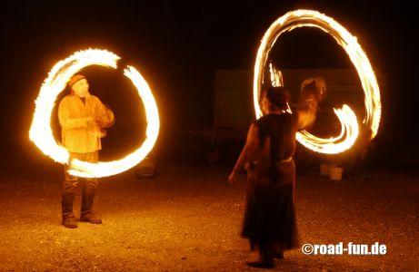 Feuershow Vor Der Haustuer #04