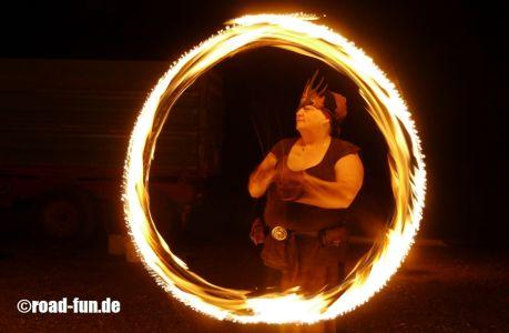 Feuershow Vor Der Haustuer #06