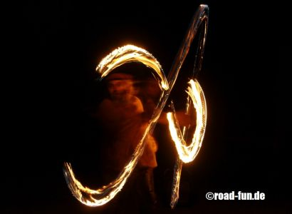 Feuershow Vor Der Haustuer #07