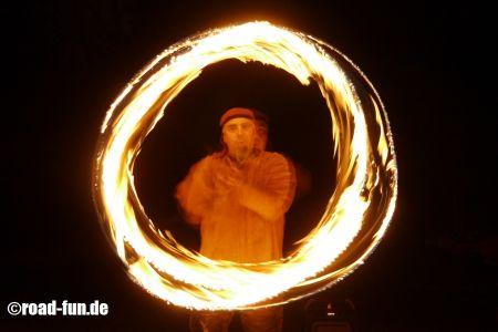 Feuershow Vor Der Haustuer #08