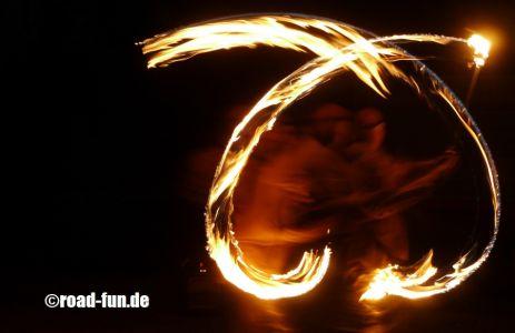 Feuershow Vor Der Haustuer #09