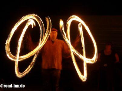 Feuershow Vor Der Haustuer #10