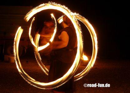 Feuershow Vor Der Haustuer #12
