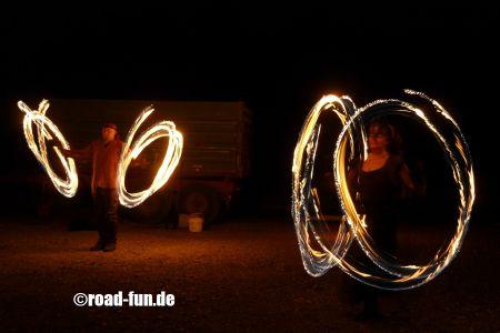 Feuershow Vor Der Haustuer #19
