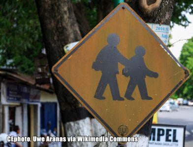 Gefahrenschild Indonesien