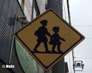 Gefahrenschild Japan