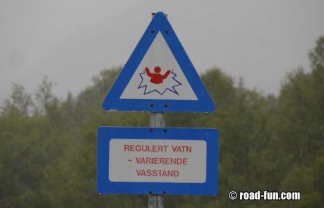 Gefahrenschild Norwegen - Statkraft3