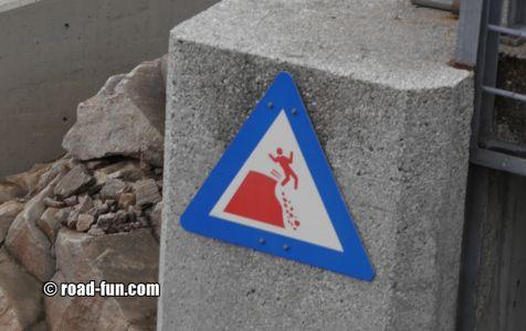 Gefahrenschild Norwegen - Statkraft