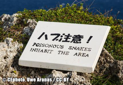 Gefahrenschild Schlangen Japan