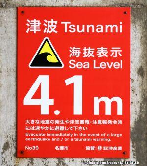 Gefahrenschild Tsunami Japan (2)