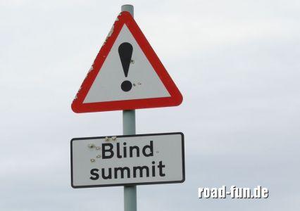 Gefahrenschild außere Hebriden - Blind summit