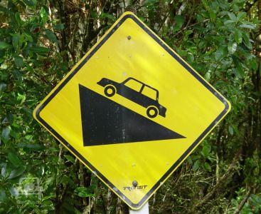 Gefahrenschild In Neuseeland