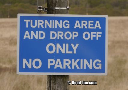 Hinweisschild Isle Of Mull - Drop Off Area