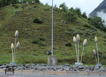 Kreisverkehr In Der Schweiz