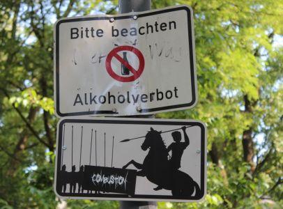 Rosenheimer Verkehrsschilder Lokschuppen Ausstellung - Alexander der grosse (3)