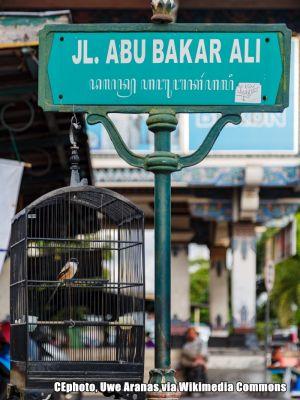 Strassenschild Indonesien