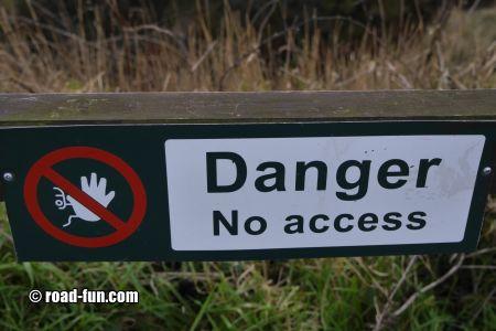 Verbotsschild Schottland - no access
