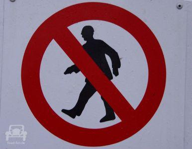 Verbotsschild In Neuseeland