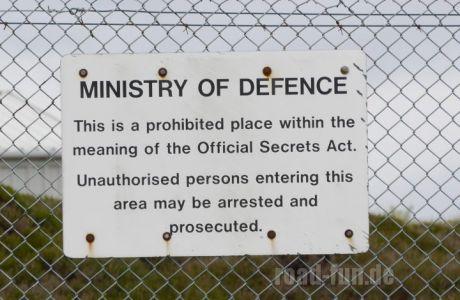 Verbotsschild outer Hebrides